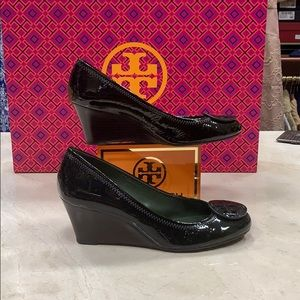 Tory Burch CHELSEA Patent Leather Wedge 8M